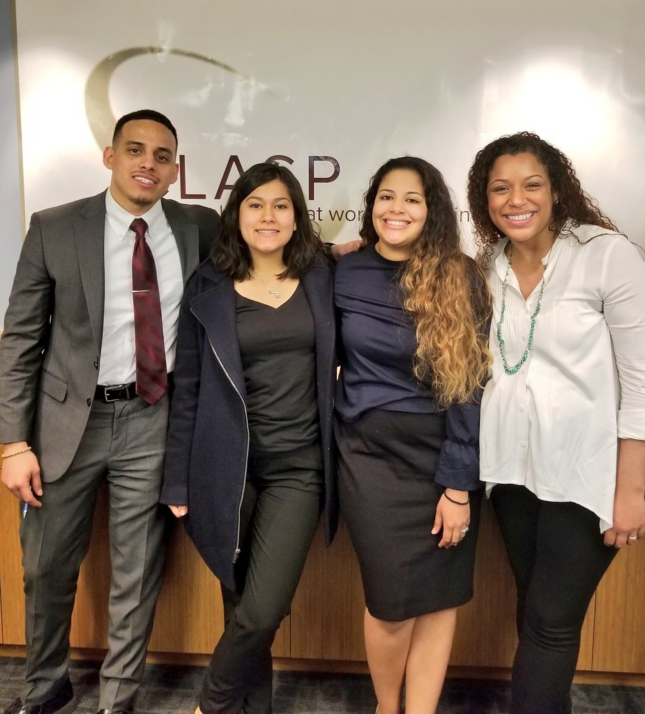 So proud of @SupportGenHope Scholars Ariel, Naraya, and Carla talking to a convening by @CLASP_DC and @AECFNews today on potential state policies to support low-income, working #college students. <br>http://pic.twitter.com/B2eo1rz3im