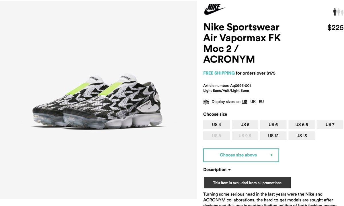 c83f0bae4a #RESTOCK Acronym x Nike Air VaporMax Moc 2 => http://bit.ly/2qZkJYc  pic.twitter.com/8aEFhQqbJe