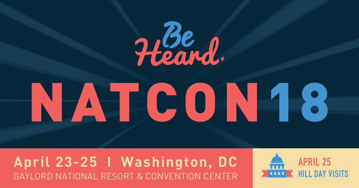 Who's excited for the final day of #NatCon18? We've got engaging sessions, a special speaker and Hill Day on tap! This is the time for you to 'Be Heard.'