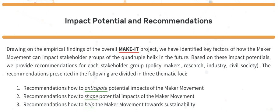 test Twitter Media - Recommendations from the @MAKE_IT_io project: key factors of how the Maker Movement can impact stakeholders https://t.co/kB3cfW7LGq @CAPSSIEU @EU_H2020 #researchimpactEU #makers https://t.co/PEy2J5W9cB