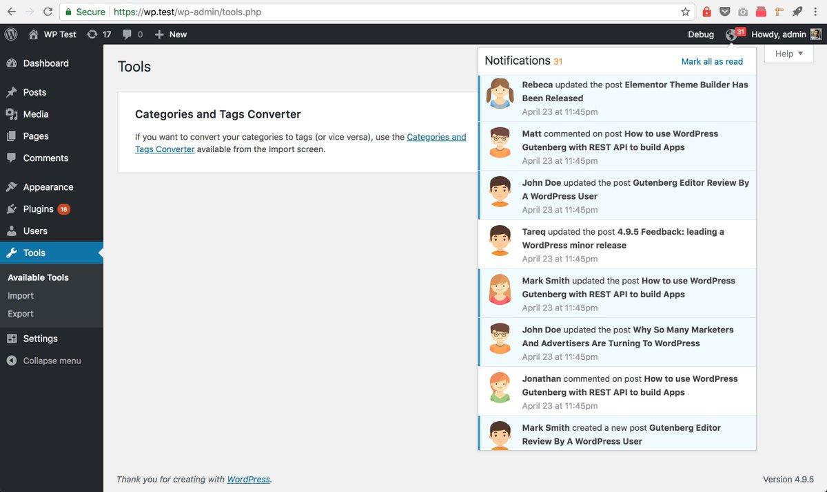 43484 (WordPress Notification Center proposal) – WordPress Trac