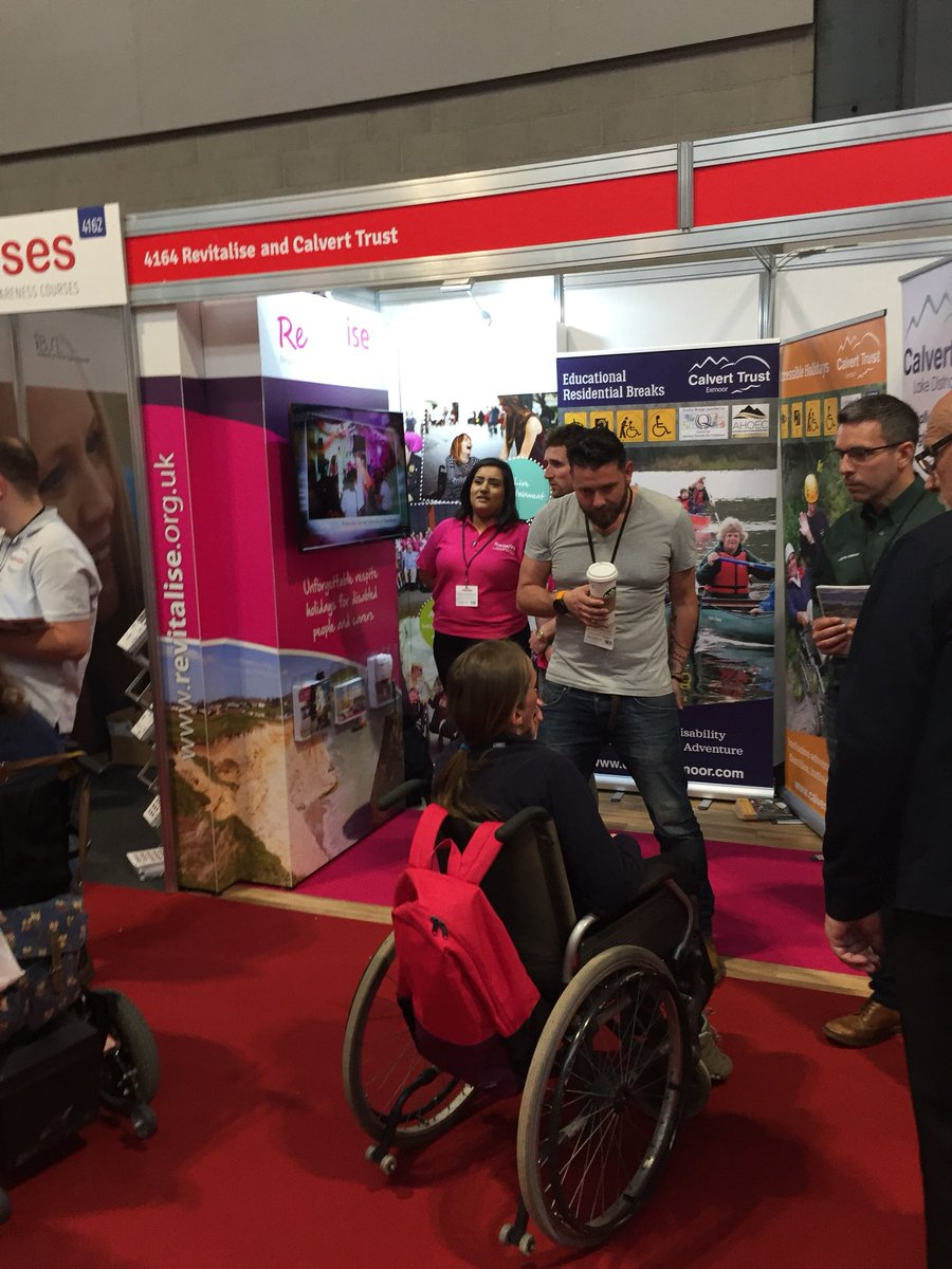 Are you visiting @NaidexShow? we would love to see you there. You can talk to @CalvertExmoor, @CalvertLakes and @RevitaliseNow all on stand 4164; come and find your next #accessible #holiday today!  (with thanks to @StuCalvertTrust for the photo)<br>http://pic.twitter.com/HQ7DmEtoSt