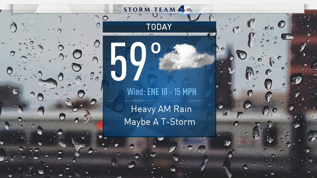 Don&#39;t forget your umbrella today! You&#39;ll need it, especially during the morning! #rain #tstorms #showers #breezy #umbrella #NBC4NY<br>http://pic.twitter.com/AByfE4cWZp