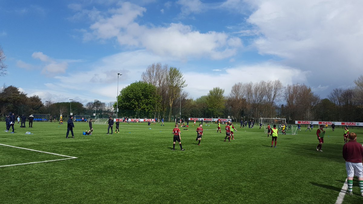 Underway at the @SPARIreland Primary 5s Dublin Finals. Over 400 boys &amp; girls taking part with loads of schools from all over SDCC here #FAI #SDCC  <br>http://pic.twitter.com/YOfXpPJBqG