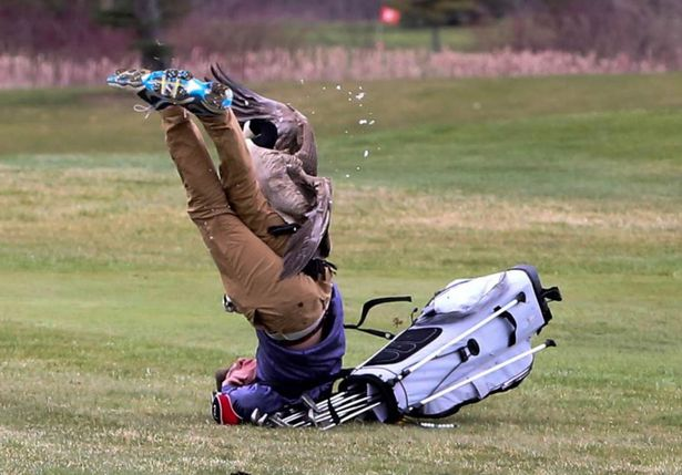 ガチョウ強すぎ!16歳の高校生ゴルファーがガチョウにボコられるwww