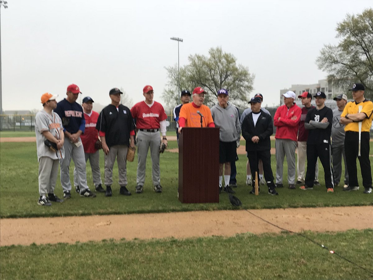 'We will not allow an act of madness deter us' - Congressional Republicans back together at Simpson Field following shooting last June. First practice of season and players are looking forward to raising $$ for kids. @fox5dc