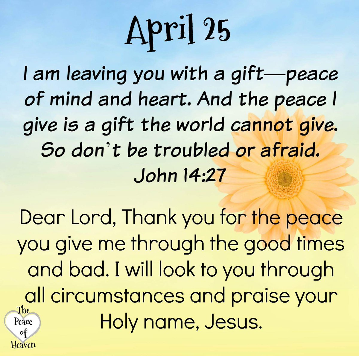 Good Morning Brothers/Sisters. I am leaving you with a gift--peace of mind and heart.And the peace I give is a gift the world cannot give. So don&#39;t be troubled or afraid.-John 14:27&quot;Lord U Bring  Peace To My.&quot; Have A Bless #Wednesday #JesusLovesYou  #WednesdayWisdom<br>http://pic.twitter.com/071RLughOw
