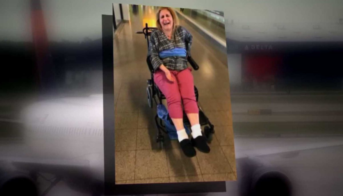 Woman with MS says Delta staff tied her to wheelchair with blanket https://t.co/xT0nbNJOuq