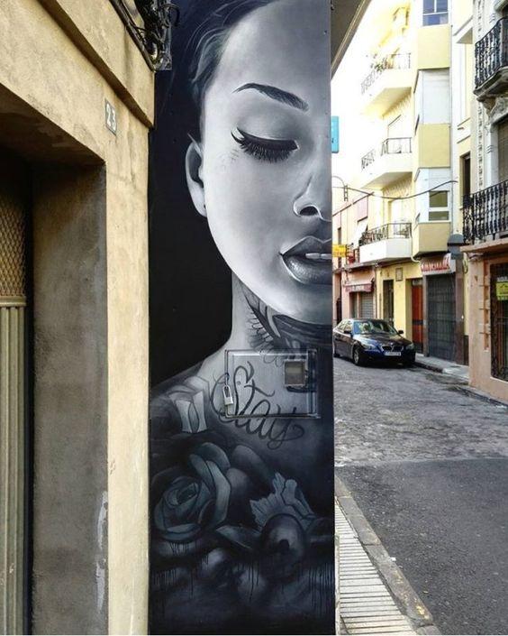 ... details... of beauty. Art by Francisco Diaz in Albuquerque, USA #StreetArt #art #beauty #Details #BlackAndWhite #Tattoo #Lips #Graffiti #Mural #Albuquerque #NewMexico<br>http://pic.twitter.com/jePaFbmmda