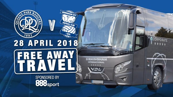 🚨🚌 FREE coach travel to @QPRFC courtesy of @888sport!  888sport are also offering fans who have already purchased coach travel through the Club to this match reimbursement if they'd instead like a space on our complimentary coaches.  ➡️ https://t.co/3fXIr78O4u #BCFC