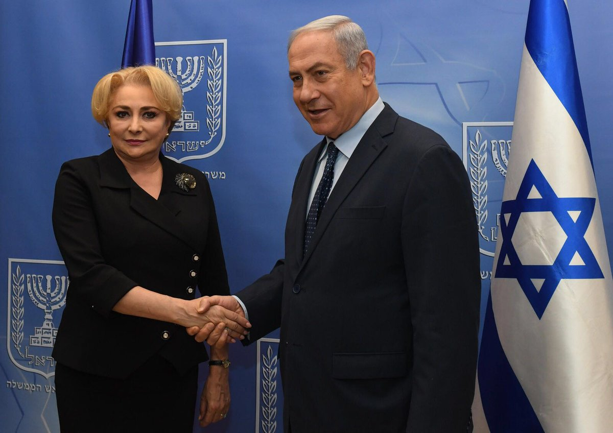 PM Netanyahu met with Romanian PM Dancila. The two agreed to hold a G2G meeting in Romania in the coming months. The leaders discussed bilateral issues, strengthening cooperation and the holding of joint projects in – inter alia – security, health, technology and cyber defense