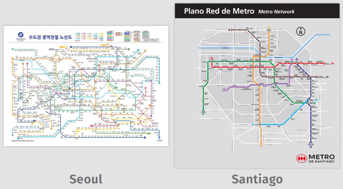 Seoul Subway Map 2018 Pdf.Transit Maps On Twitter Comparison Image And Links To Full Maps