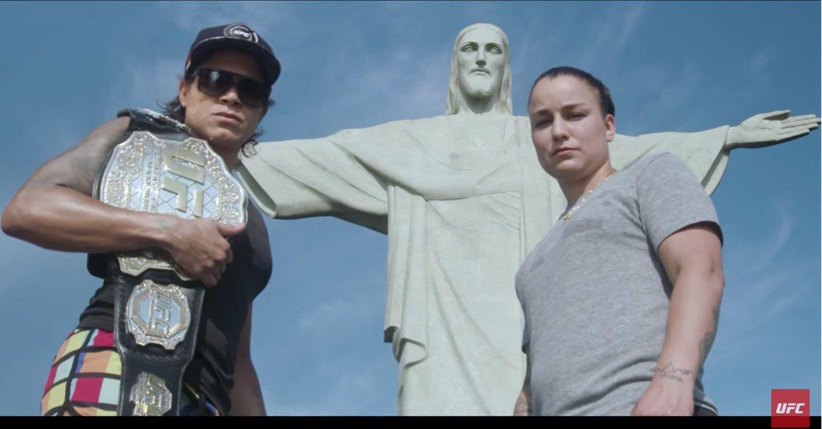 Em 12 de maio, @Amanda_Leoa retorna a cidade do Rio de Janeiro, palco de sua estreia no octógono. Mas agora a história será outra. A brasileira defende o seu cinturão 🏆contra @RockyPMMA na luta principal do #UFC224 ⬇