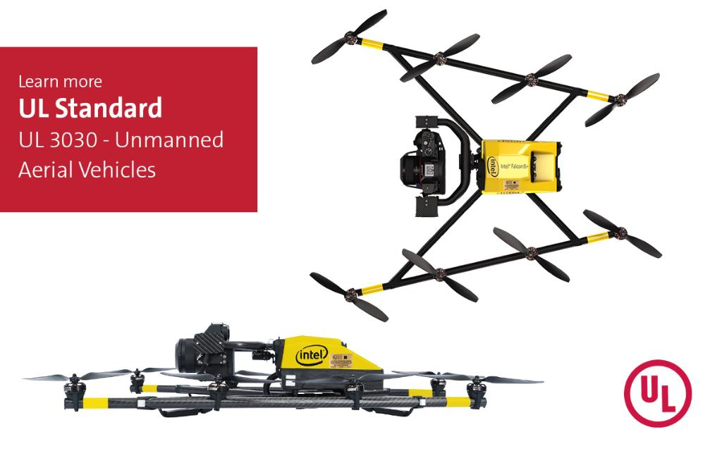 First UL certification issued to a leading drone manufacturer with standard UL 3030. Safe, efficient operations are critical for unmanned aircraft systems & their electric system/components including rechargeable lithium-ion batteries and charging systems. https://t.co/L00D4kVfwW