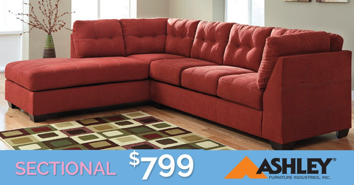 Take Home This Gorgeous #Ashley #SectionalSofa For Only $799 For A Limited  Time During #TipTopu0027s #SpringClearance #Sale! Stop In To Our Showroom To  Browse ...