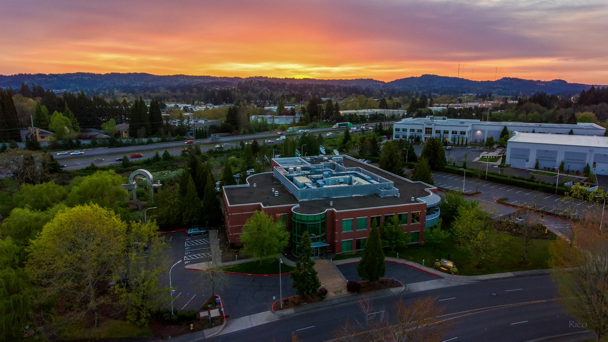 FOX 12 is looking so good this morning, what a sunrise shot! Photo by FOX 12 photographer @UncleRico11 via drone.