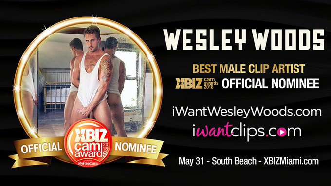 Cast your vote for @TheWesleyWoods in this year's #XBizCamAwards! https://t.co/Ww7r7FChIa #iWantGay #iWantClips