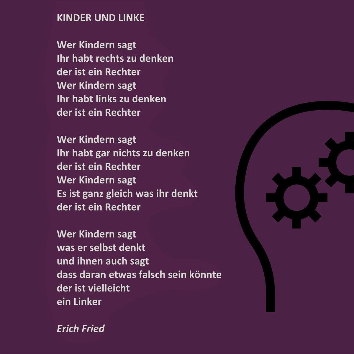 Sagt die fried gedicht liebe erich Erich Fried