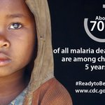 Sad but true: more than 2/3 of all malaria deaths are among children under 5 years old, mostly in sub-Saharan Africa. In fact a child dies from #malaria every 2 minutes. At @CDCGlobal, we stand #ReadytoBeatMalaria and to #EndMalaria for good