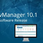 Image for the Tweet beginning: vCom Announces vManager 10.1 Software