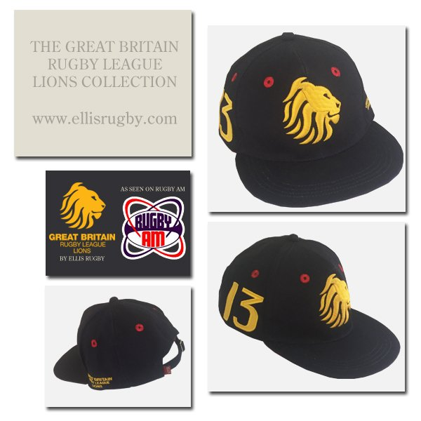 6d1bbe9fb62 GREAT BRITAIN RUGBY LEAGUE LIONS CAPS (As seen on  RugbyAM) We ve recently  added a 6 Panel snapback cap and classic baseball cap.