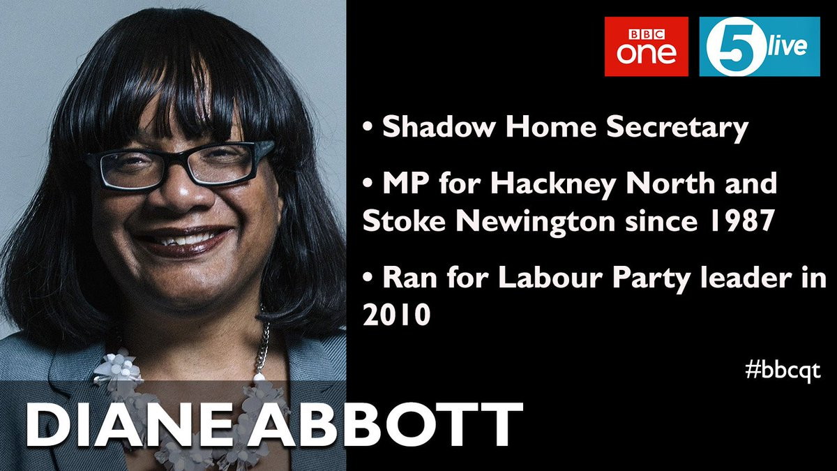 It's that time of the week again - here's Thursday's #bbcqt panel. First up it's @HackneyAbbott for @UKLabour