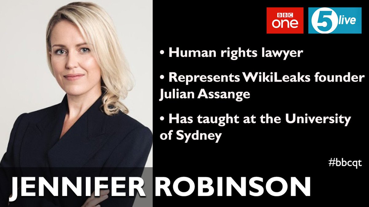 The barrister @suigenerisjen makes her #bbcqt debut on Thursday