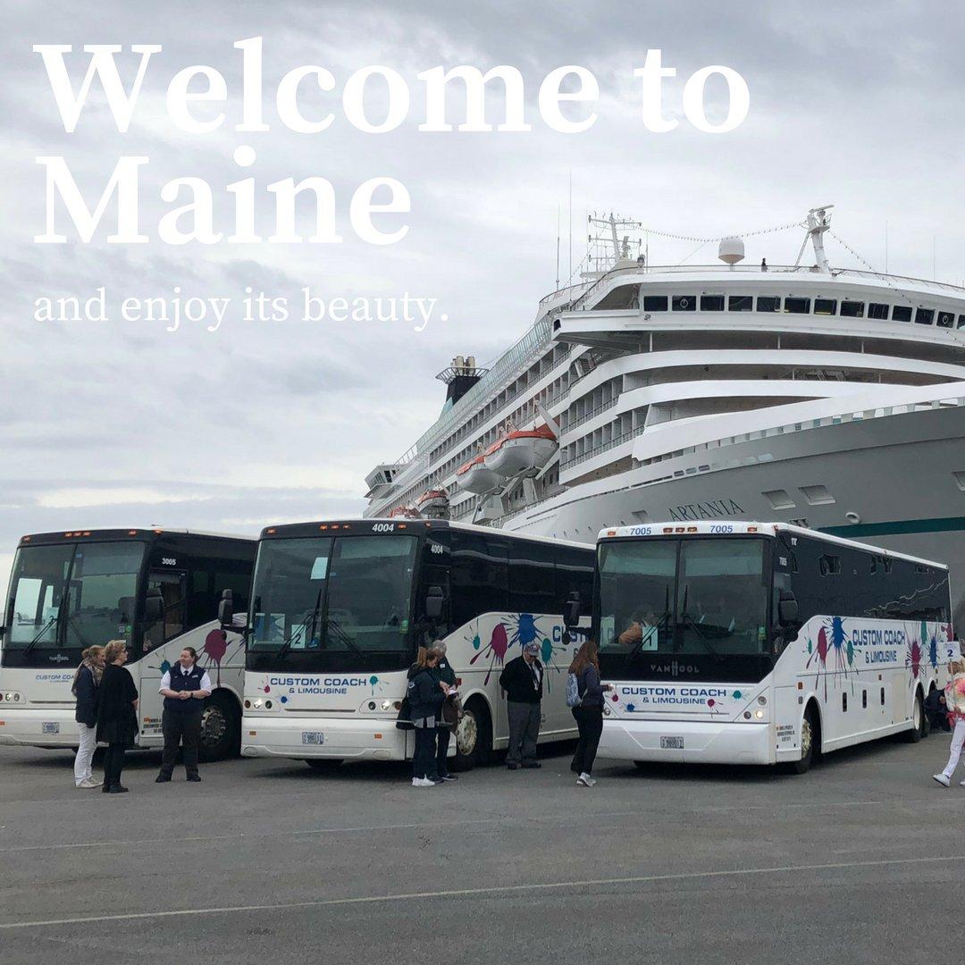 The cruise ship season in Maine has begun. Welcome and enjoy our beautiful State.  #cruiseship #tourists #msartania #phoenixreisen #customcoach #motorcoach #visitmaine #visitportland #visitportlandme #maine #travelmaine #vacationland #maineadventure #exploremaine #discovermainepic.twitter.com/ZO9KeXvUDF