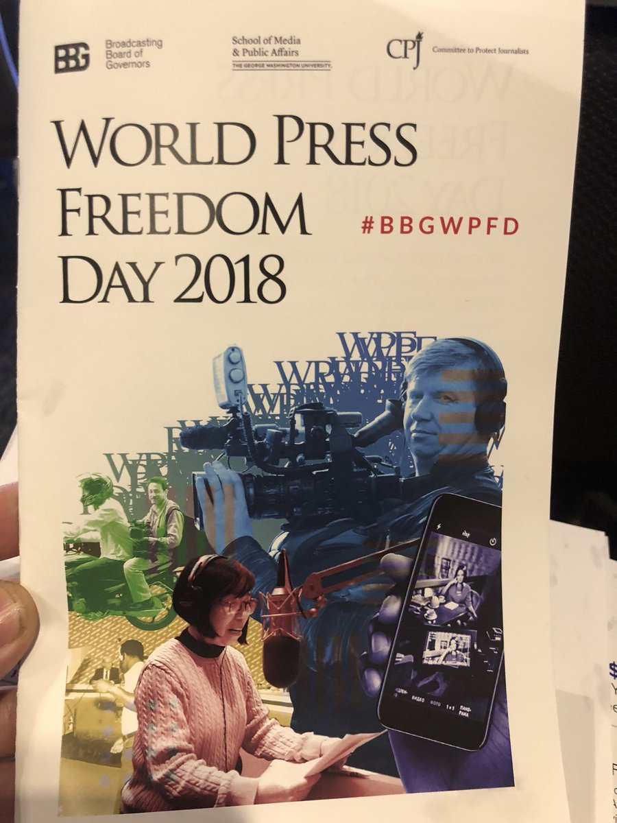 I came back to @SMPAGWU in DC for the @BBGgov's second World #PressFreedom Day conversation with @pressfreedom: https://t.co/WDqFmxt99i @greta is about to moderate a discussion about media freedom. It's live online, now: https://t.co/tldNKVgW2X #bbgwpfd