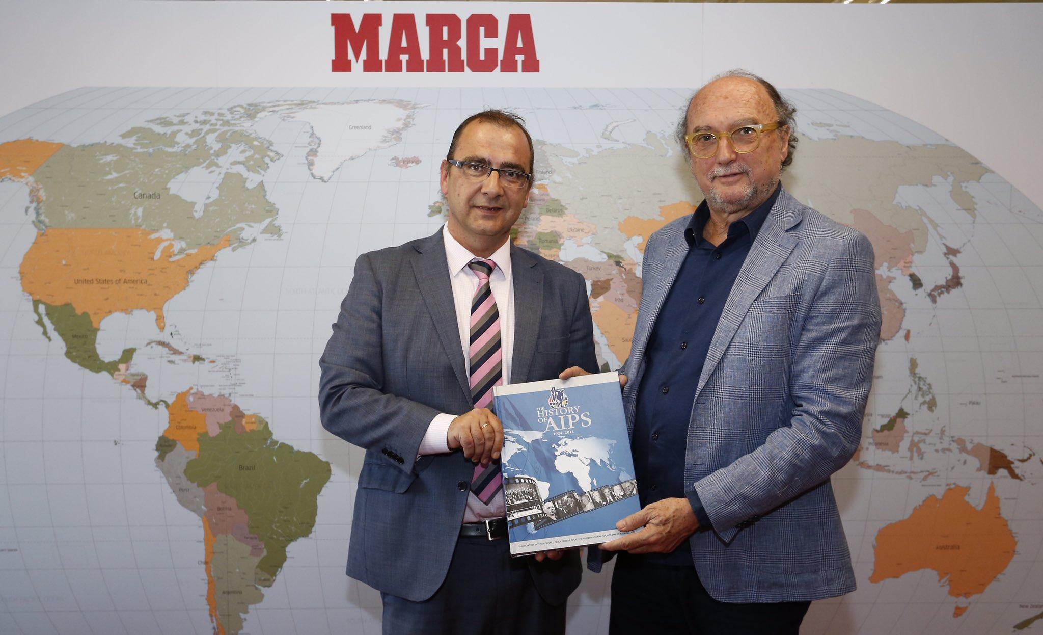 Una visita muy especial: Gianni Merlo, presidente de la @AIPSmedia https://t.co/BfM5CTSPGC