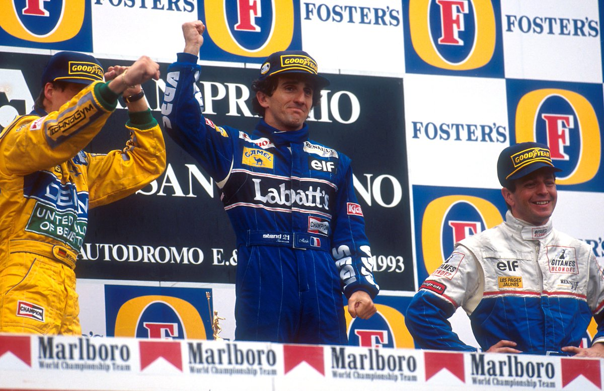 #OnThisDay in 1993, Alain Prost won the San Marino Grand Prix! #WeAreRacing #F1