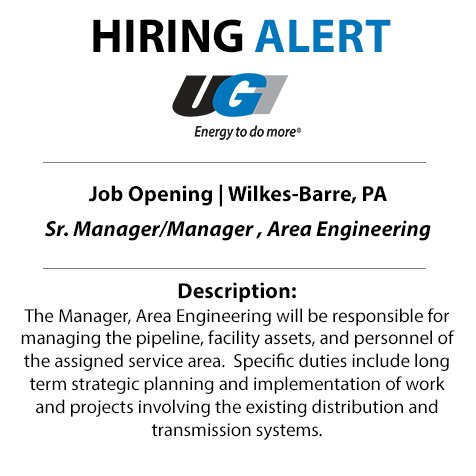 test Twitter Media - Are your ready to get into energy with UGI? We're searching for a Manager, Area Engineering to join us in Wilkes-Barre. Apply now: https://t.co/y2WCtmcb6s #JobAlert https://t.co/mGrmk3BfLC