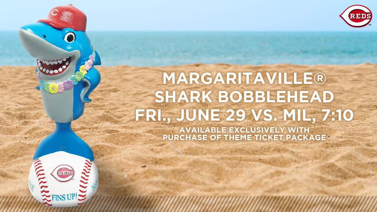1e6931db3 fins up this limited edition margaritaville shark bobblehead is only  available with the purchase of a