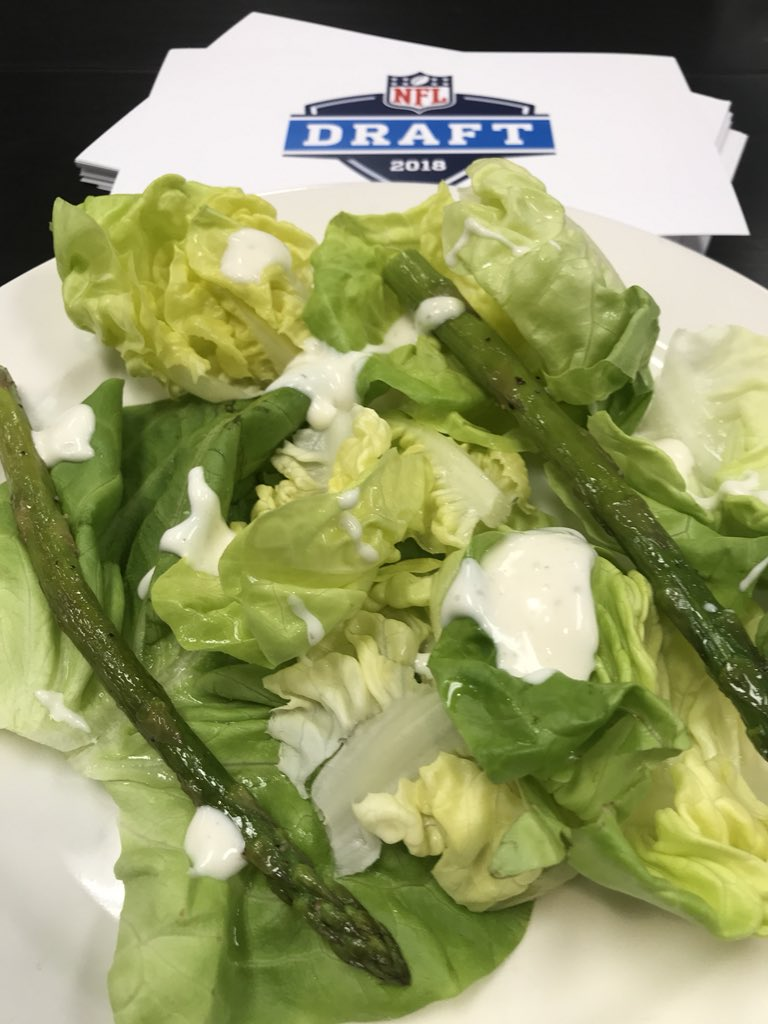 For those wondering....some salad. With a little asparagus.