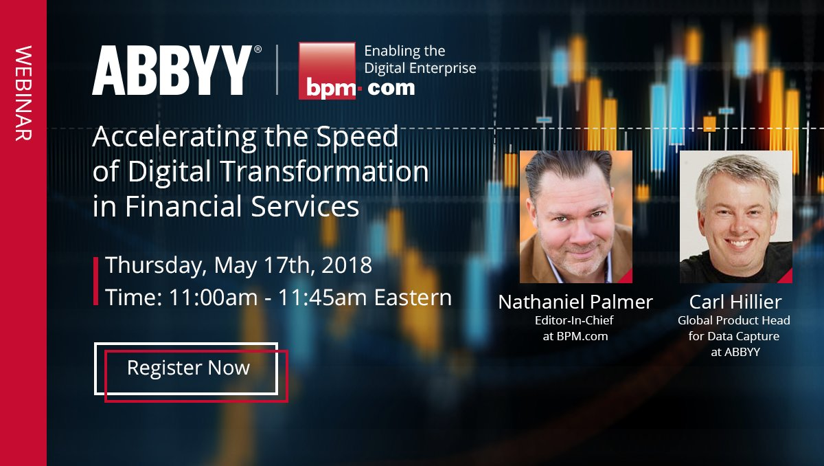 Join @tech_evangelism  and @nathanielpalmer  for an interactive webinar on May 17th, from 11:00am-11:45am (ET) as they discuss how vital information can be liberated in #FinancialServices by using #AI to transform business documents into business value.  http:// ow.ly/eCv630jG0Hq  &nbsp;  <br>http://pic.twitter.com/Ax4Fvgcj4u