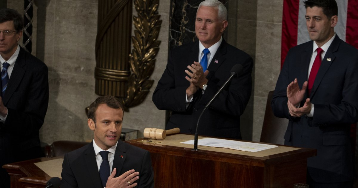 Emmanuel Macron just confronted Trump with a powerful speech before Congress https://t.co/xbzzzRfxjU