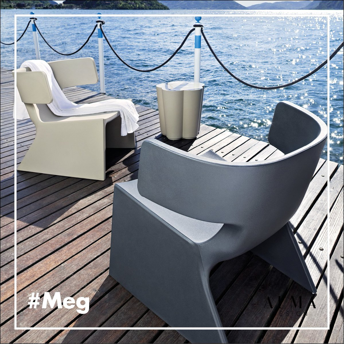 Alma Design On Twitter The Sleek And Cozy Meg S Shape Is Available In The Polyethylene Version Ideal For Decorating Terraces And Gardens Chairs Sedie Almadesign Livingroom Home Design Designlovers Interiordesign