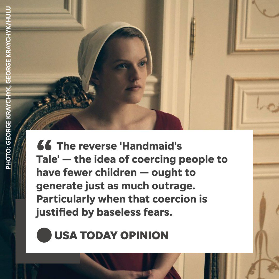 A reverse @HandmaidsOnHulu is just as horrifying — get the facts straight on population growth. https://t.co/moMgCn56Gs