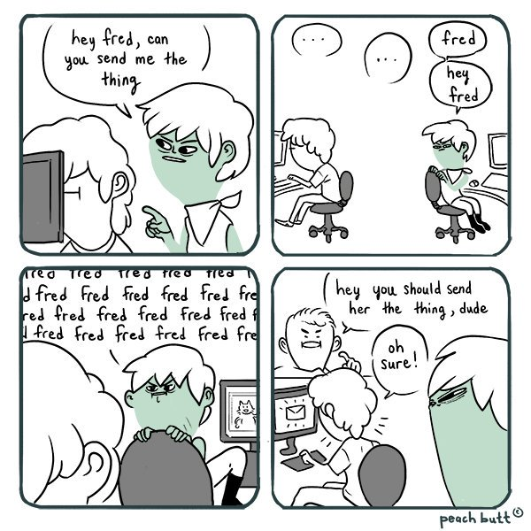 Am I too quiet??? Am I being ignored??? We just don&#39;t know???  FRED PLZ.  #gamedev #webcomic #comics #comic<br>http://pic.twitter.com/76UVKDz2Wy