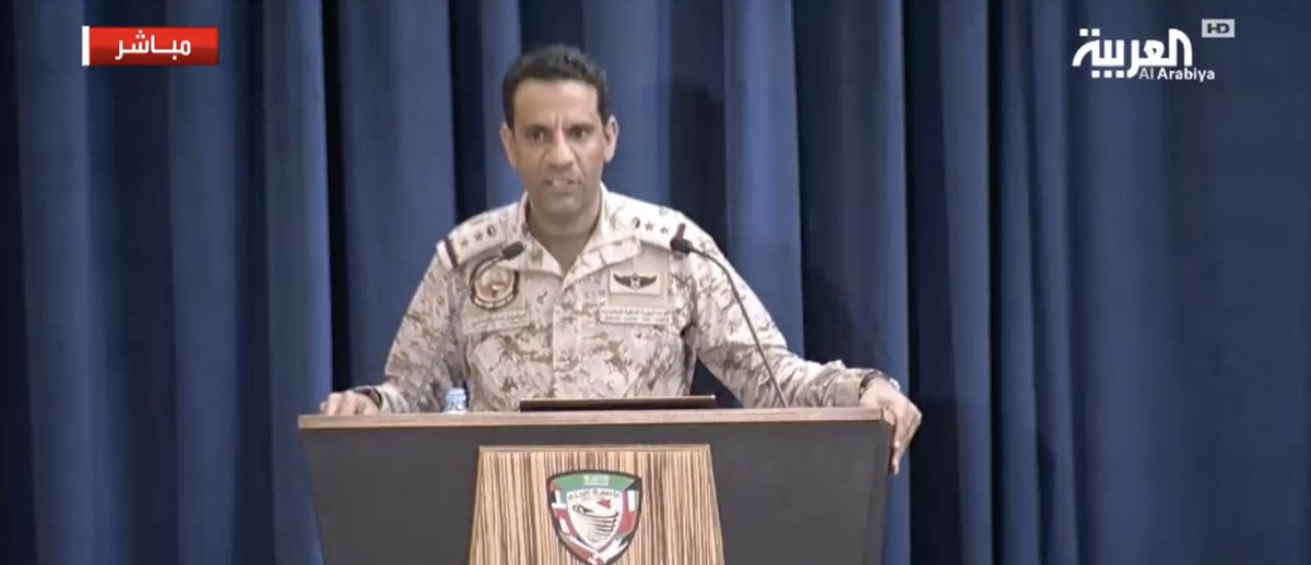 Saudi-led coalition spokesperson Turki Al-Maliki: 125 ballistic missiles and more than 66,000 projectiles have been launched by #Houthi militias on #SaudiArabia to date || https://t.co/ojZ7mA1dJY   #Yemen