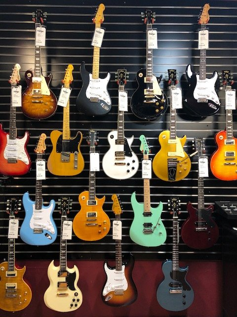 Vintage guitars, designed by Trevor Wilkinson... classic styling, modern  features, great value! Here are some of the models we have in stock.