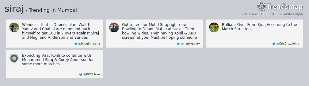 'siraj', 'anderson', 'corey' & 'ambati' are now trending in #Mumbai  https://t.co/8Y8yAhSPeu https://t.co/r4enZWJ9Jw