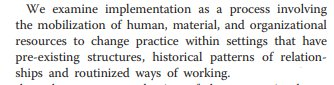 A1 Having been thinking about #ImpSci throughout my #SLPhD, this from Clarke et al 2013 is my favourite definition  http:// bit.ly/2Kf5Z0j  &nbsp;   #ReSNetSLT<br>http://pic.twitter.com/xKOnxcyIix