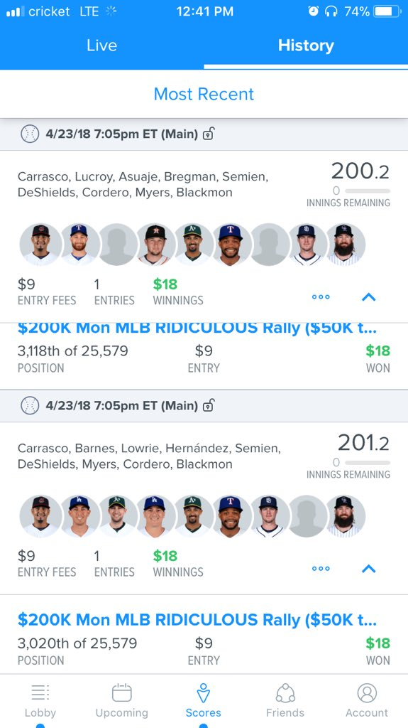 #MLb #NBA  #DFS #Fanduel #Draftkings #investing #profit #data #Algorithms   RT this post and send me a DM for a #Free MLB main tonight!   Let's keep makin this money 4/4 last slates   Join the team today and rock all season with us for $45!!<br>http://pic.twitter.com/6Y2f8GMF5u