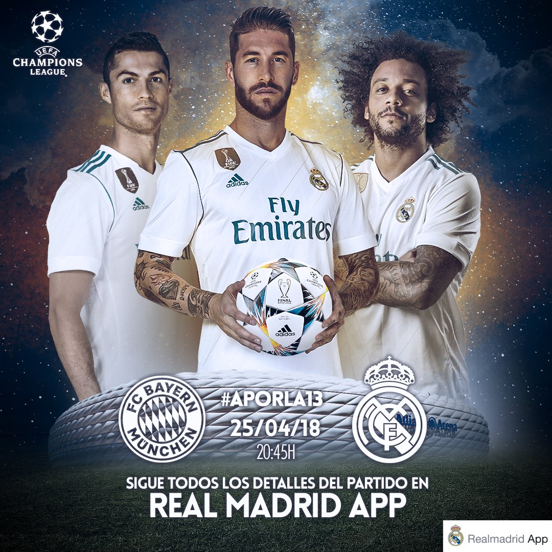 Real Madrid Tv On Twitter Bayern Munchen Vs Real Madrid 1 Here We Go Ucl Fcbrma Free Live Stream Hd For Pc Mobile Android Ipad Iphone Here Https T Co D1z2hagd0u Https T Co L4kl4zo0bi