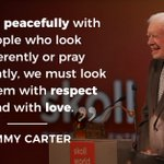 Image for the Tweet beginning: At #SkollWF, Jimmy Carter reminded