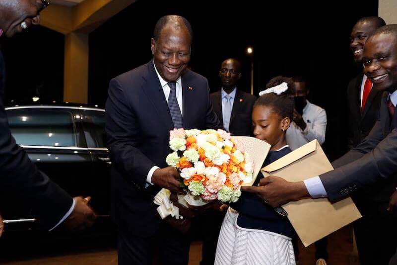 #prci: Le Président de la République, Alassane OUATTARA, est arrivé à Kigali (RWANDA), ce mercredi 25 avril 2018, où il assistera à la remise du Prix Mo Ibrahim à l'ex-Présidente du Liberia, Mme Ellen Johnson Sirleaf.