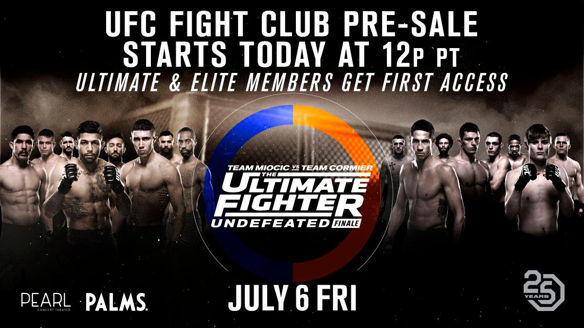 Undefeated fighters go HEAD TO HEAD❗️ The #TUF27 @UFC Fight Club presale is LIVE: bit.ly/2qYeghc