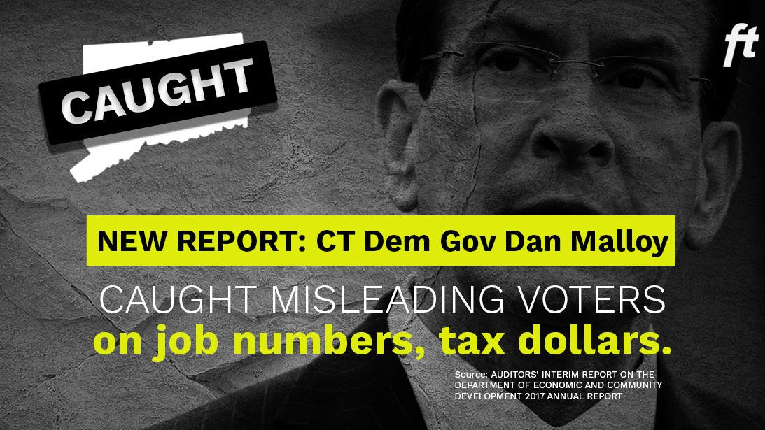 Wow: @DanMalloyCT&#39;s administration appears to have been caught inflating job creation numbers. Looks like he&#39;s trying to hide his failures from the public... #CTGov #Connecticut <br>http://pic.twitter.com/9l0GBBRtYL