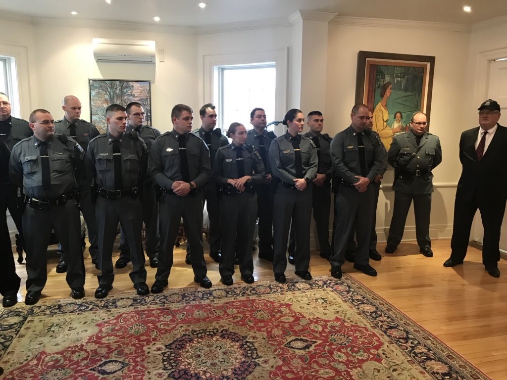 Congratulations to the @SUNYPlattsburgh Police Department on their 50th anniversary. Since it's inception in 1968, this brave force of men of women have kept students faculty, staff and members of the local community safe and secure. Thank you for your service. #LawEnforcement <br>http://pic.twitter.com/CNcBN5OK5J